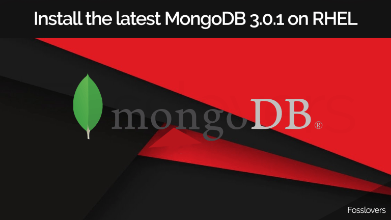 How-to-install-the-latest-MongoDB-3.0.1-on-RHEL-or-CentOS-7