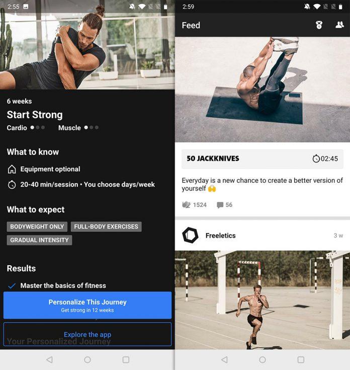 freeletics workout app