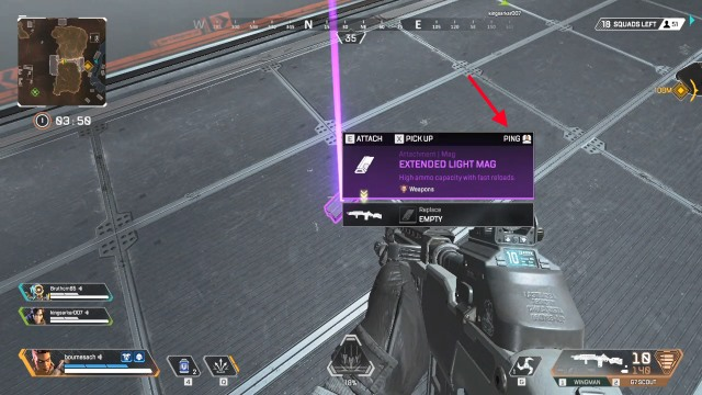 ping weapons apex legends