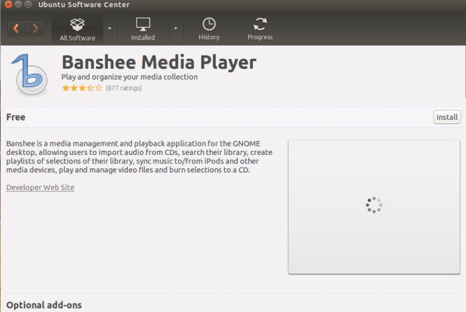ubuntu banshee media player