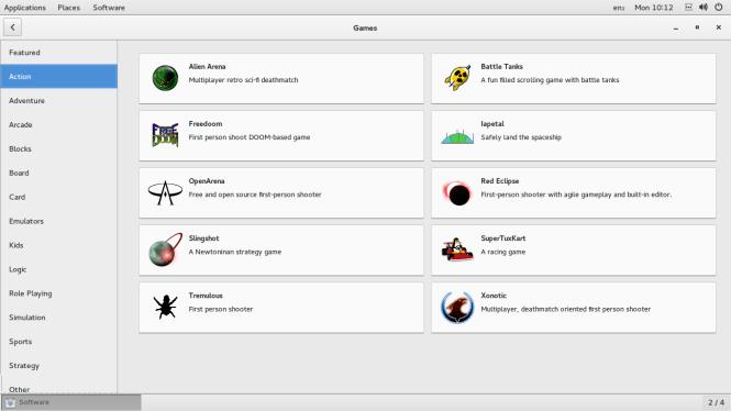 fedora software centre app
