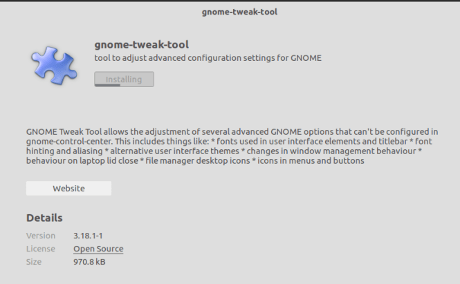 gnome tweak tool installation