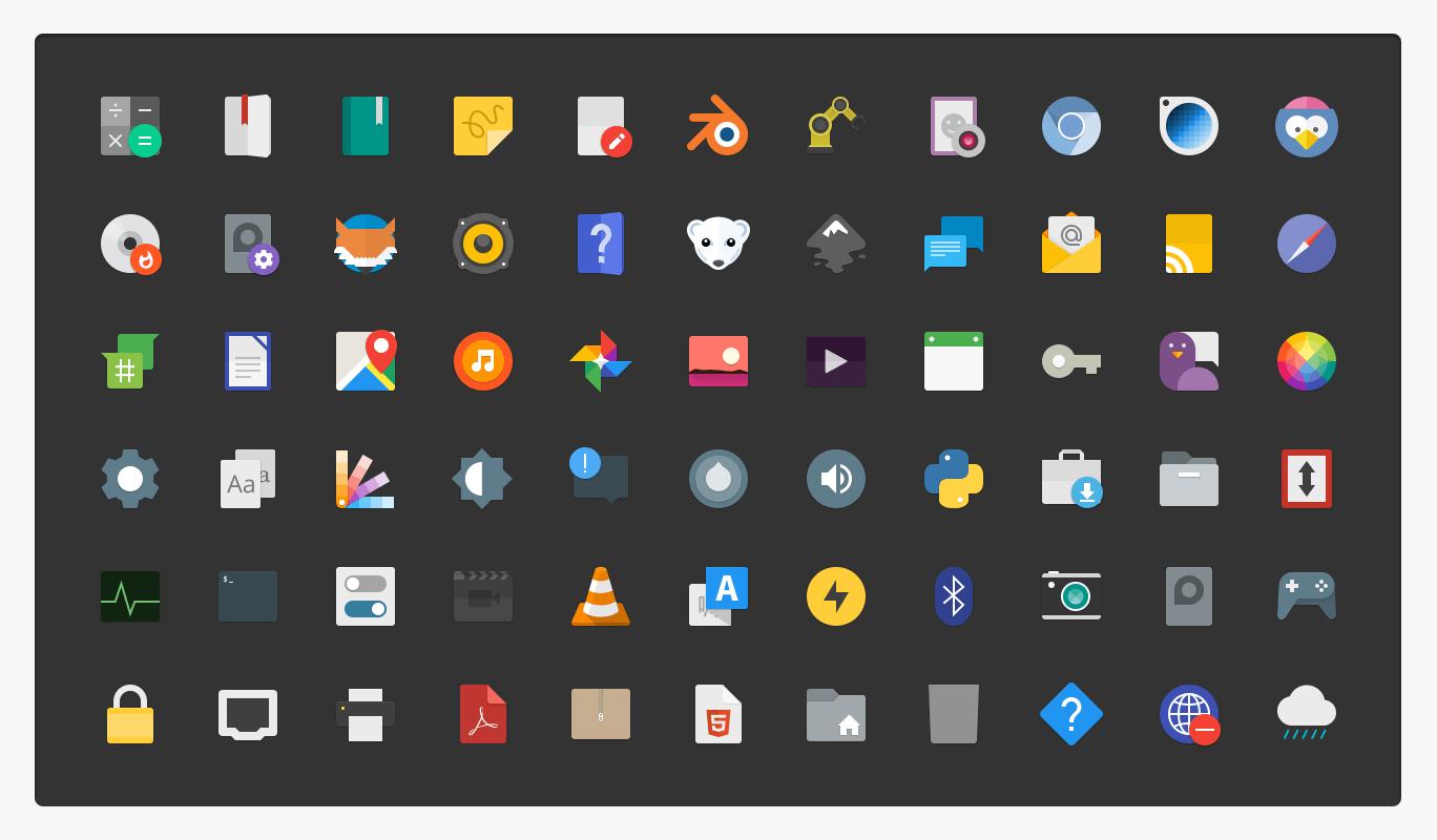 paper icon theme screenshot