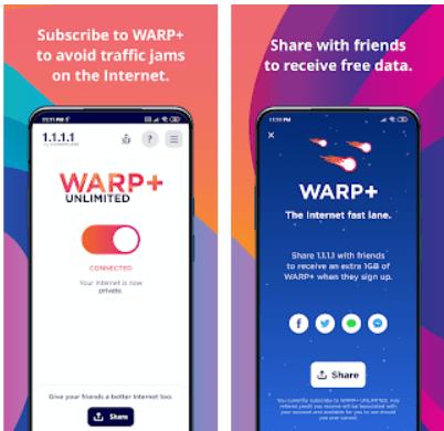 Warp VPN app PC download