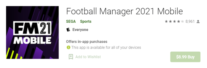 Football Manager 2021 Mobile for Mac