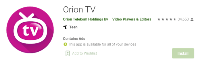 Orion TV for Mac