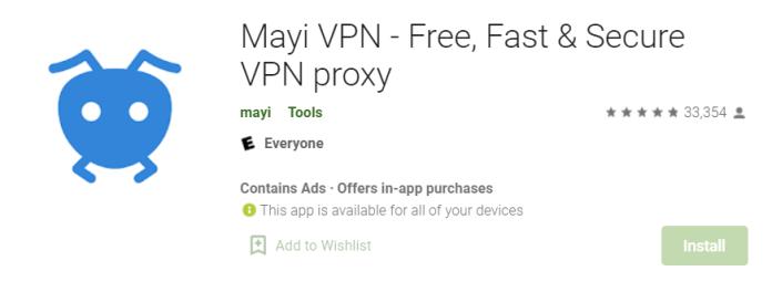 Mayi VPN for Mac