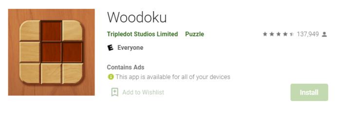 Woodoku for Mac