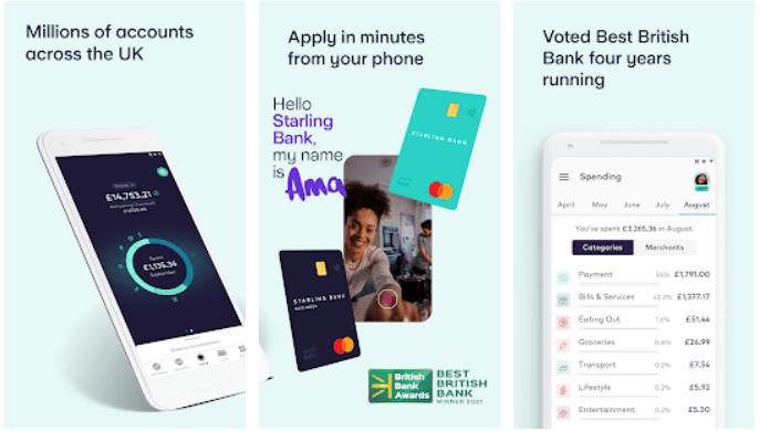 Starling Bank app on Windows