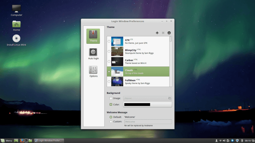 MDM Manager in Linux Mint 18