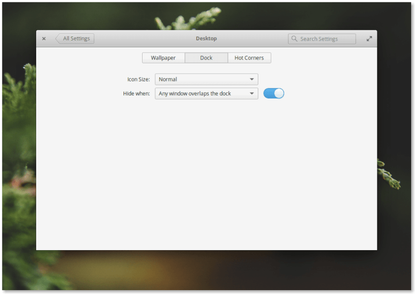 Elementary OS 0.4 Loki Dock Settings