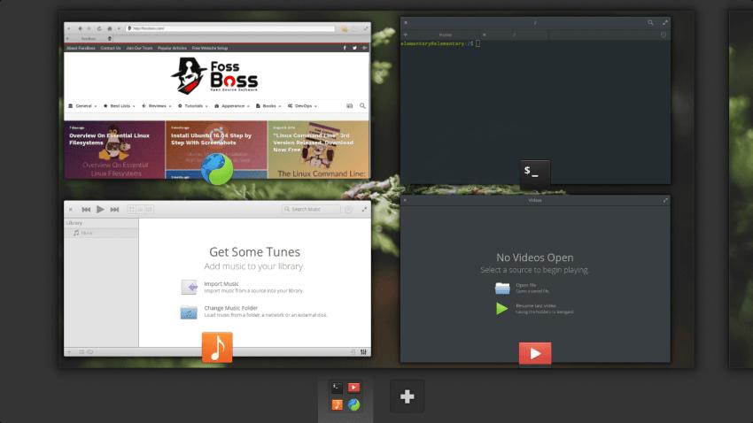 Elementary OS 0.4 Multi-Tasking