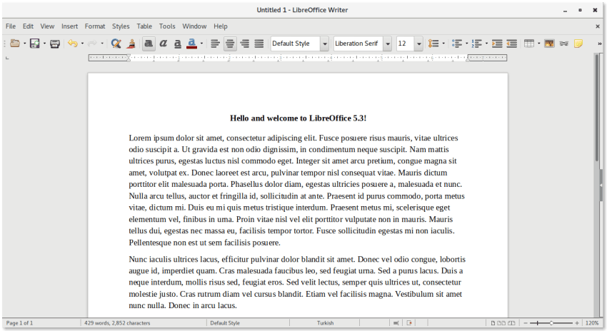 Libreoffice 5.3 Single Toolbar Mode