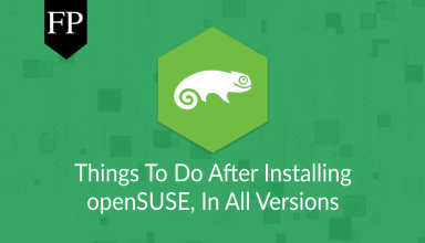 Things To Do After Installing openSUSE 5 things to do after installing opensuse