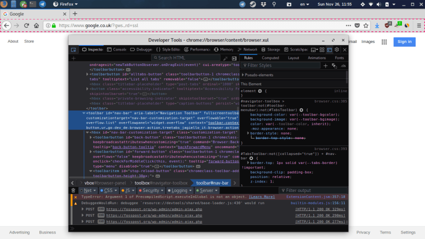 How To Customize Firefox +57 User Interface | FOSS Post