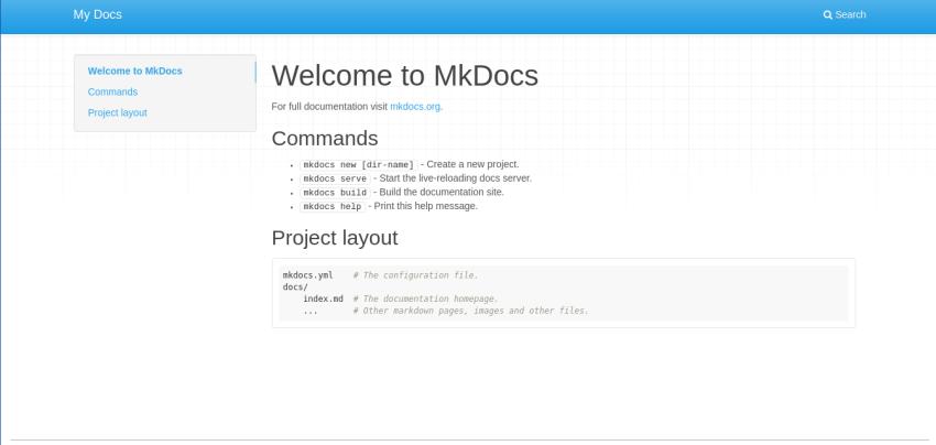 Documentation Software MkDocs
