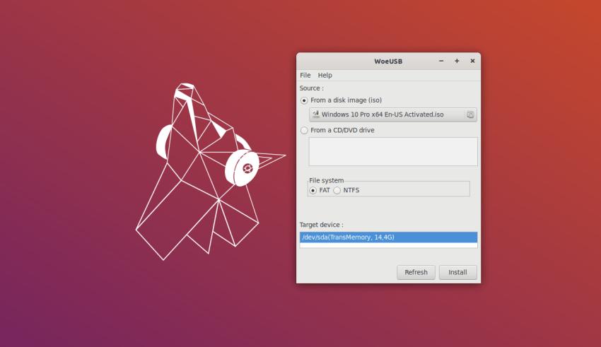 Burn Windows on USB from Linux via WoeUSB 7 burn windows