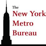 New York Bureau logo of skyscraper black silhouette.