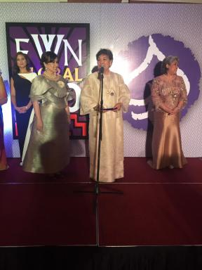 Fellow FWN100 (2015) Awardee Niña Aguas, who nominated Ophie.