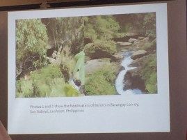 Barangay Lon-Oy, - Baroro Watershed source