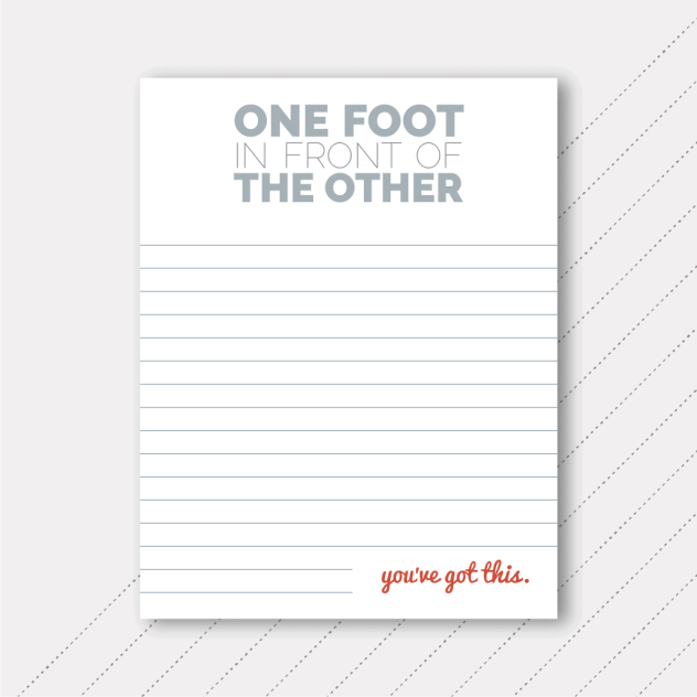 Foster The Love - One Foot In Front Of The Other Notepad
