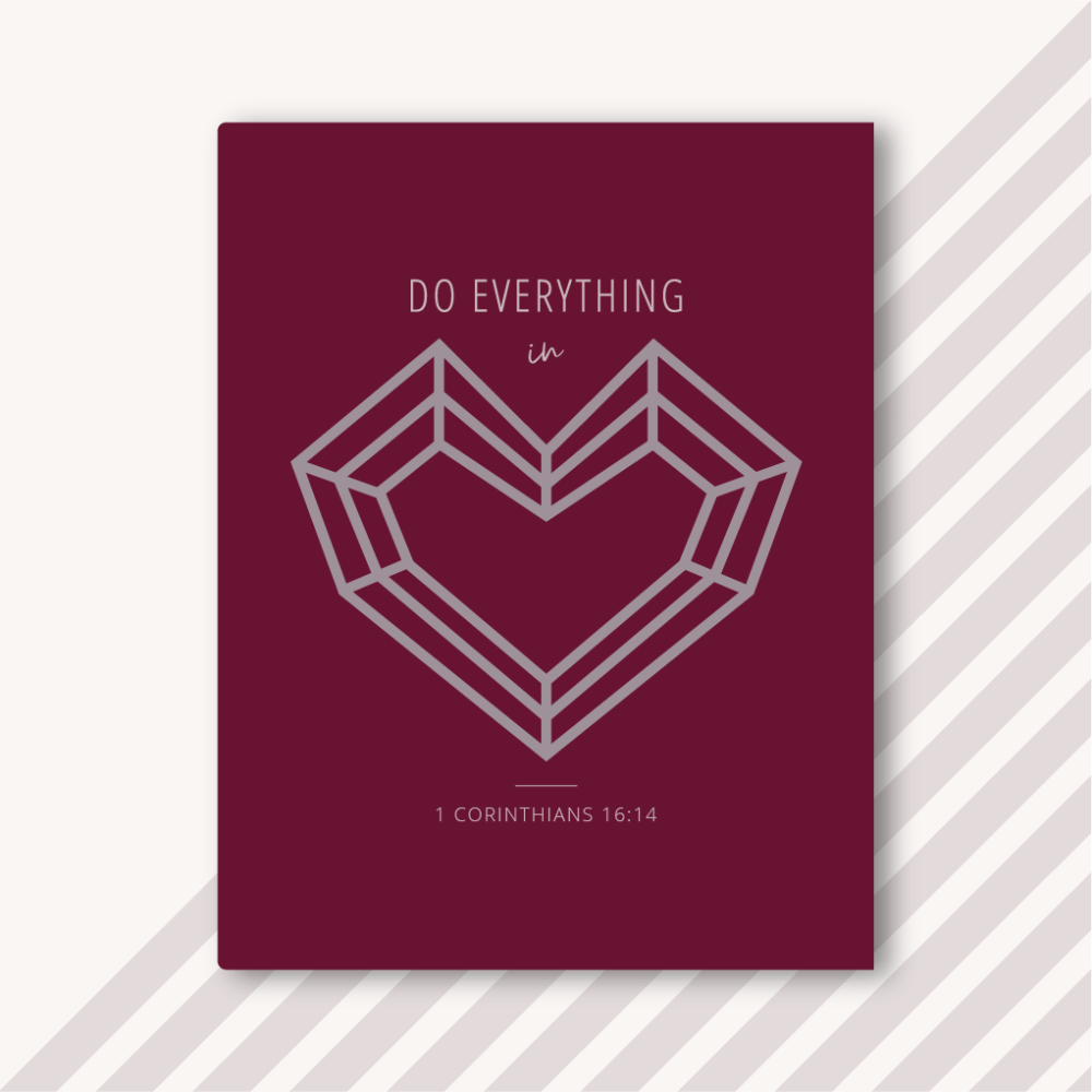 Foster The Love - Burgundy Notebook - Do Everything In Love