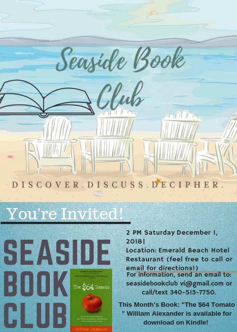seaside book club flyer