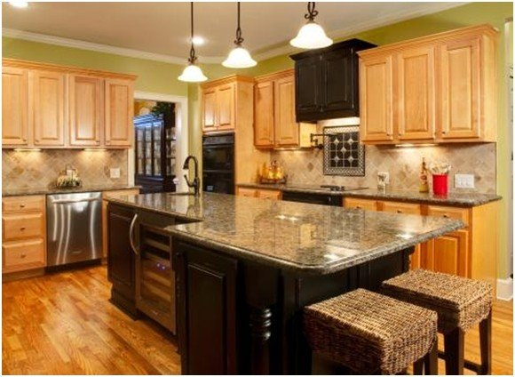 Maple Cabinets - Ideas on Foter on Kitchen Backsplash With Natural Maple Cabinets  id=27414