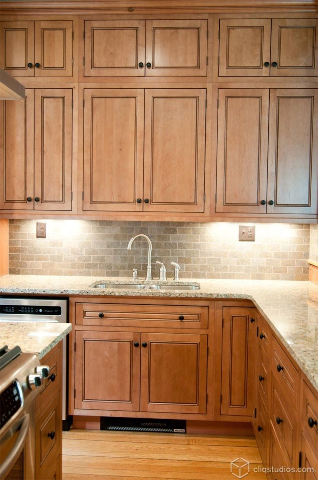 Maple Cabinets - Foter on Kitchen Tile Backsplash Ideas With Maple Cabinets  id=78286