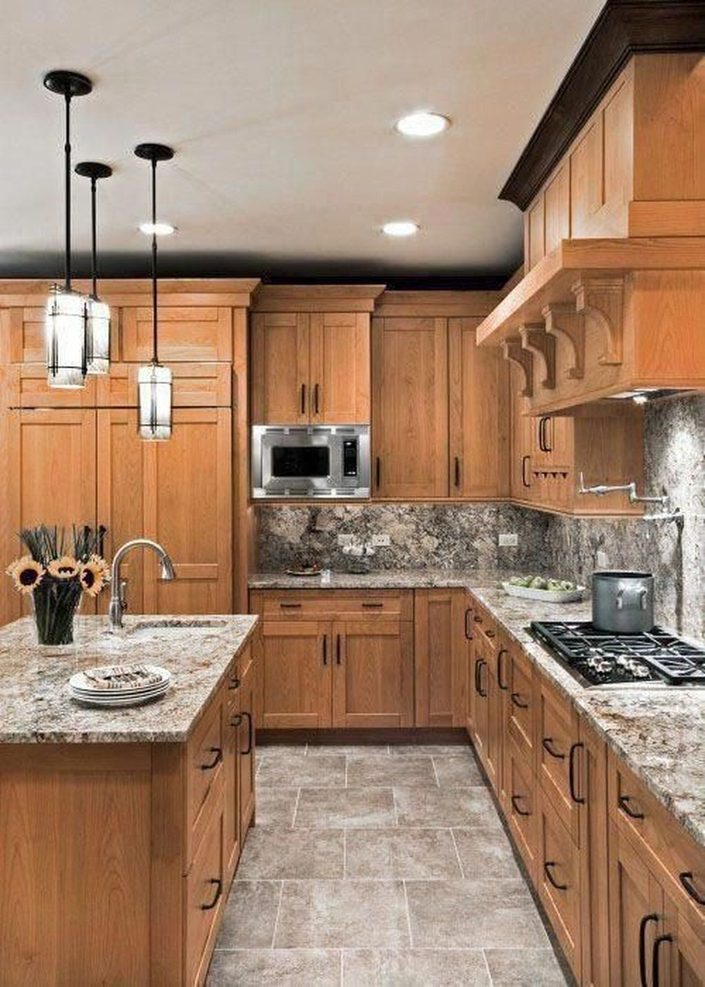 Shaker Style Lighting - Foter on Light Maple Cabinets With White Countertops  id=78425