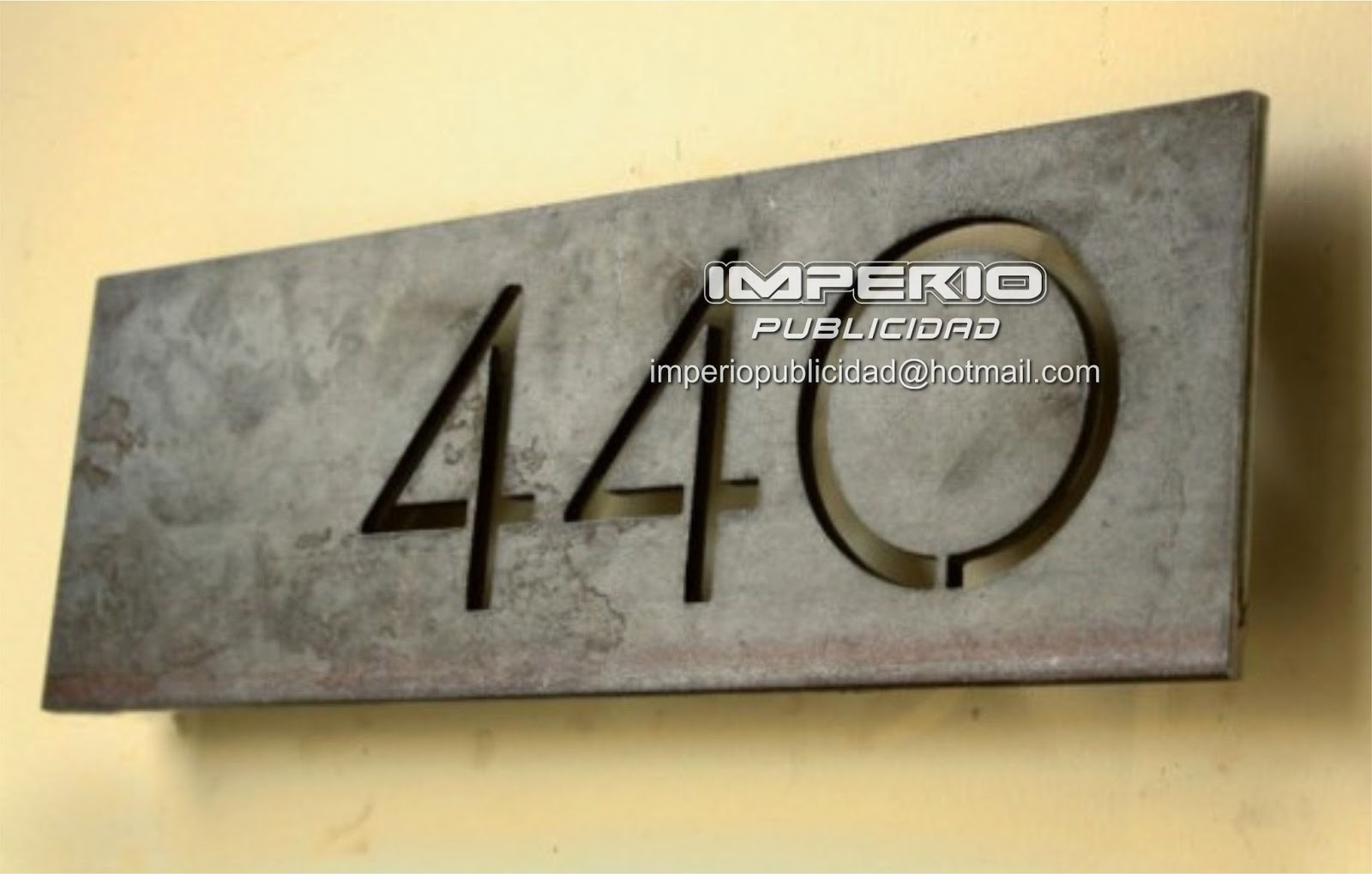 Metal House Number Signs   Foter Modern house numbers offset 1