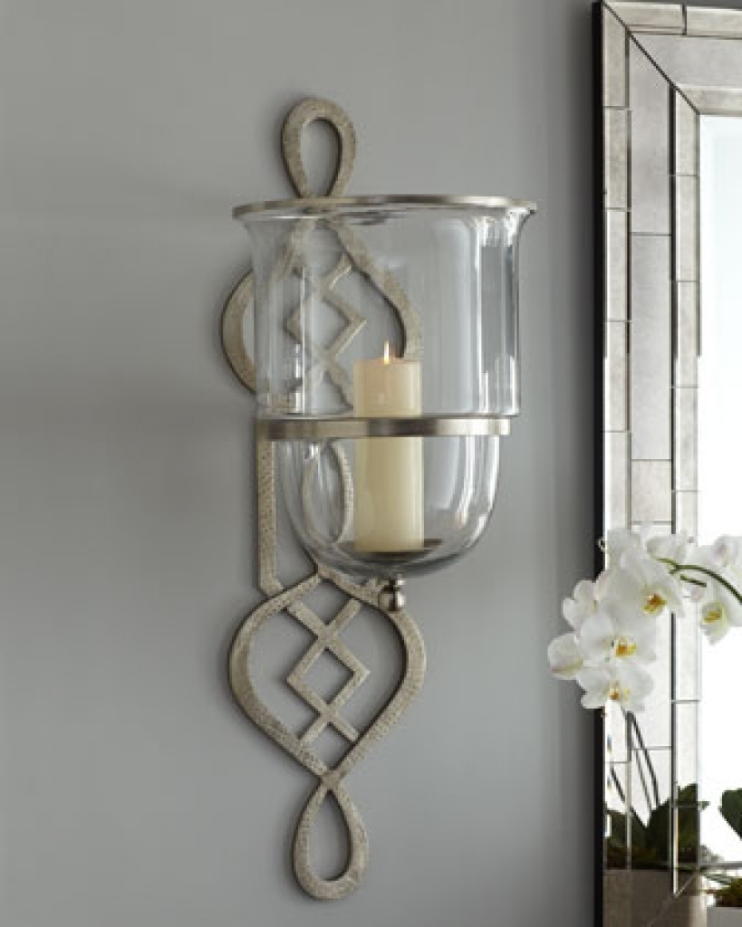 Silver Candle Sconce - Foter on Silver Wall Sconces For Candles id=69241