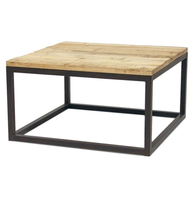 wrought iron wood coffee table - foter