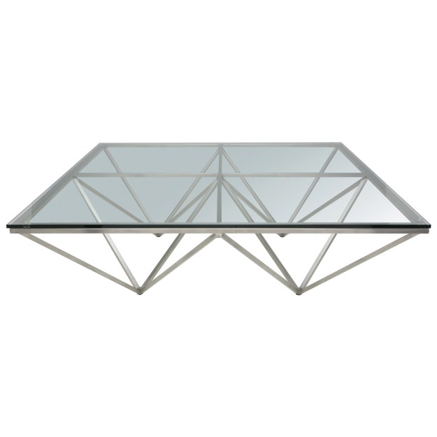 glass and steel coffee table - foter