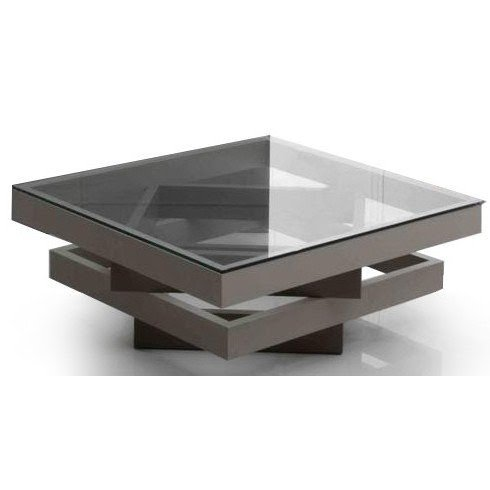 square glass coffee table contemporary