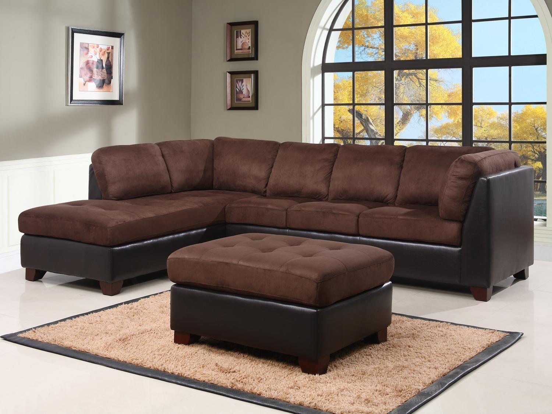 microfiber sectional sofa with ottoman
