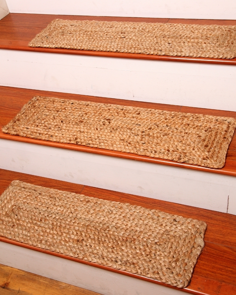 Jute Stair Treads Ideas On Foter | Rug Treads For Steps | Creative | Covering | Residential | Oak | Turquoise