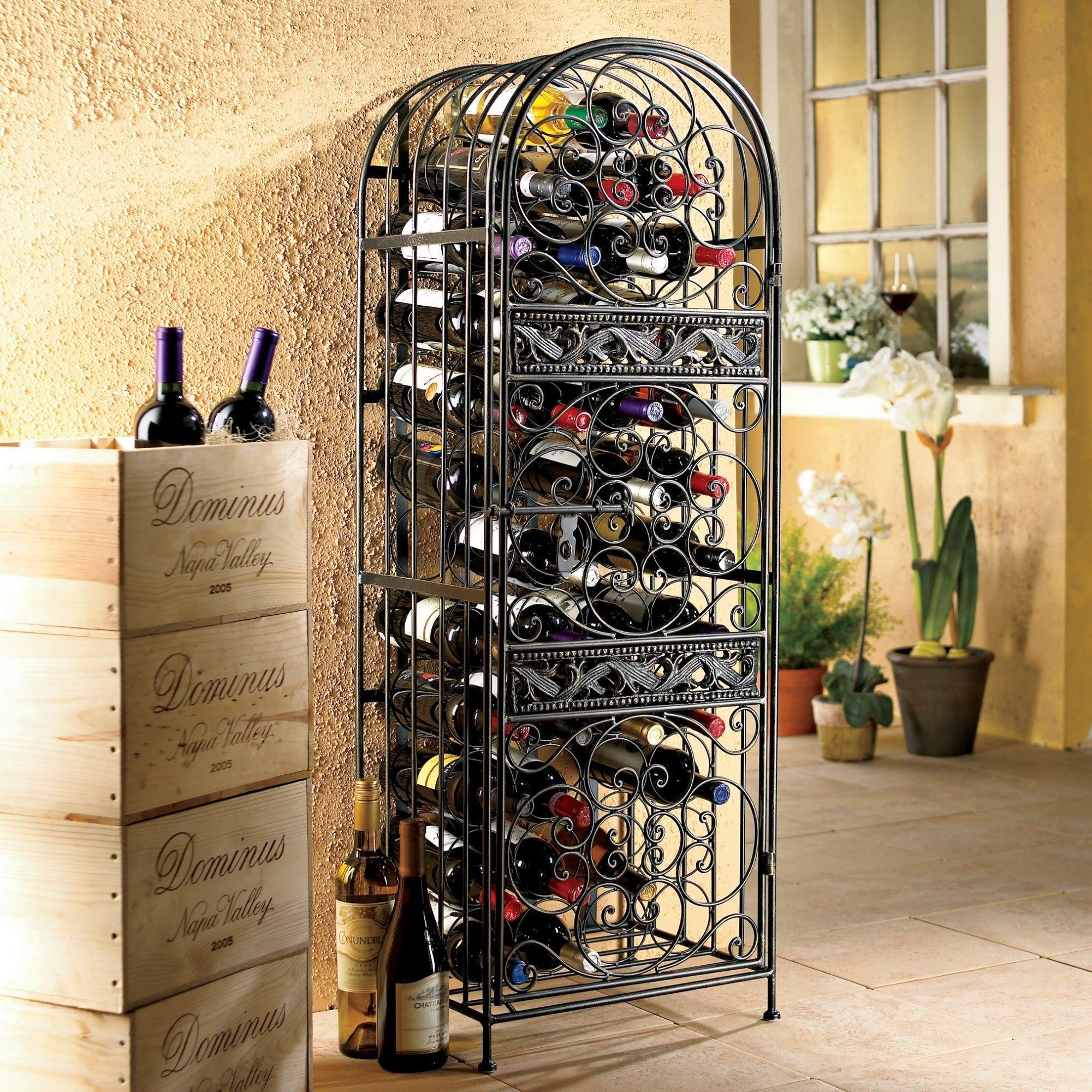 33 corner wine shelf wall mounted gif