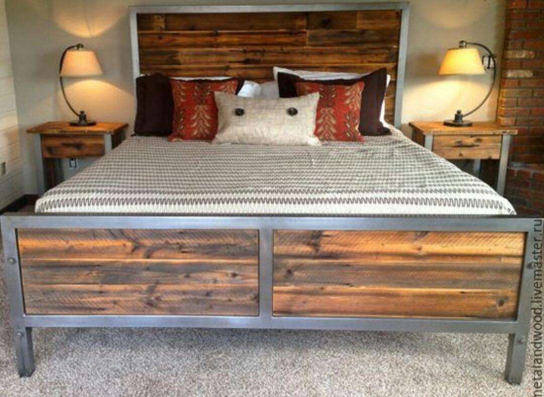 metal and wood bedroom sets ideas on