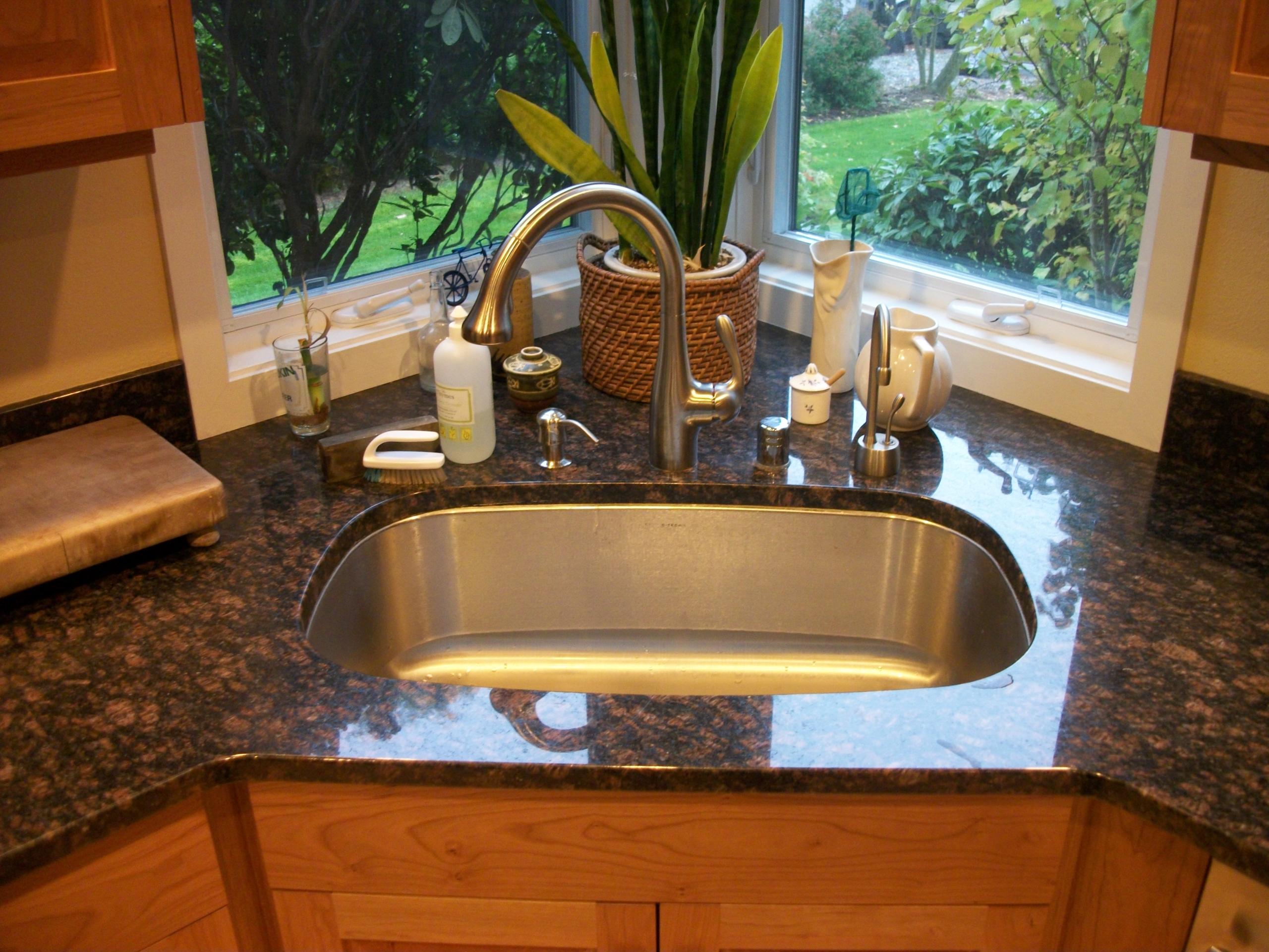 corner kitchen sinks undermount ideas