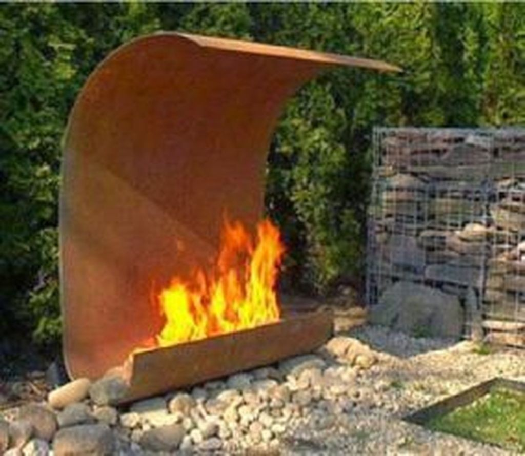 Steel Outdoor Fireplace - Ideas on Foter on Quillen Steel Outdoor Fireplace id=61543