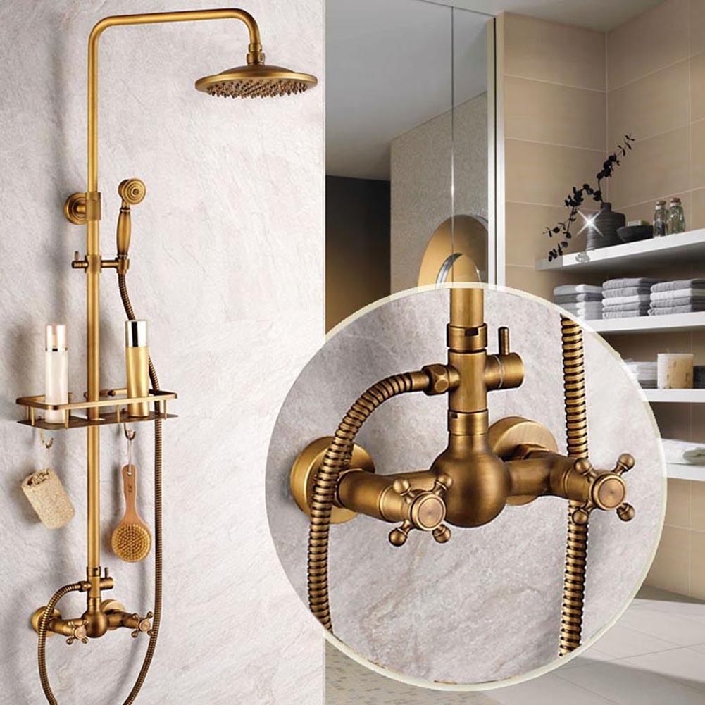antique brass shower fixtures ideas
