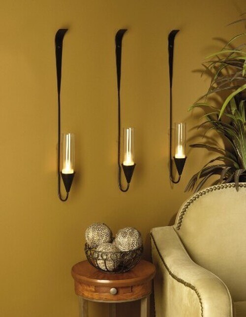Hurricane Wall Sconces For Candles - Foter on Wall Mounted Candle Sconce id=29092