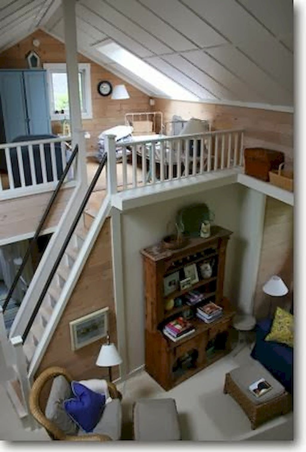 Loft With Stairs For 2020 Ideas On Foter | Design Of Stairs In Small House | Living Room | Family House | Interior | Spiral | 4 Foot