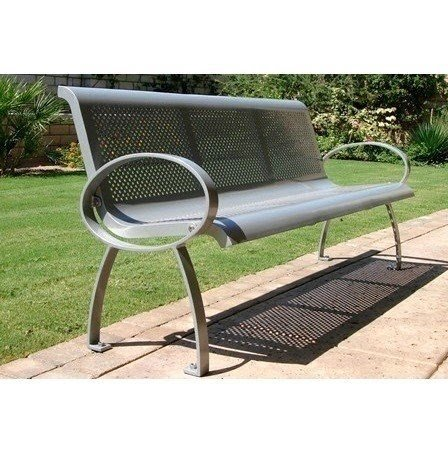 steel roundabout garden bench Metal Outdoor Benches - Foter