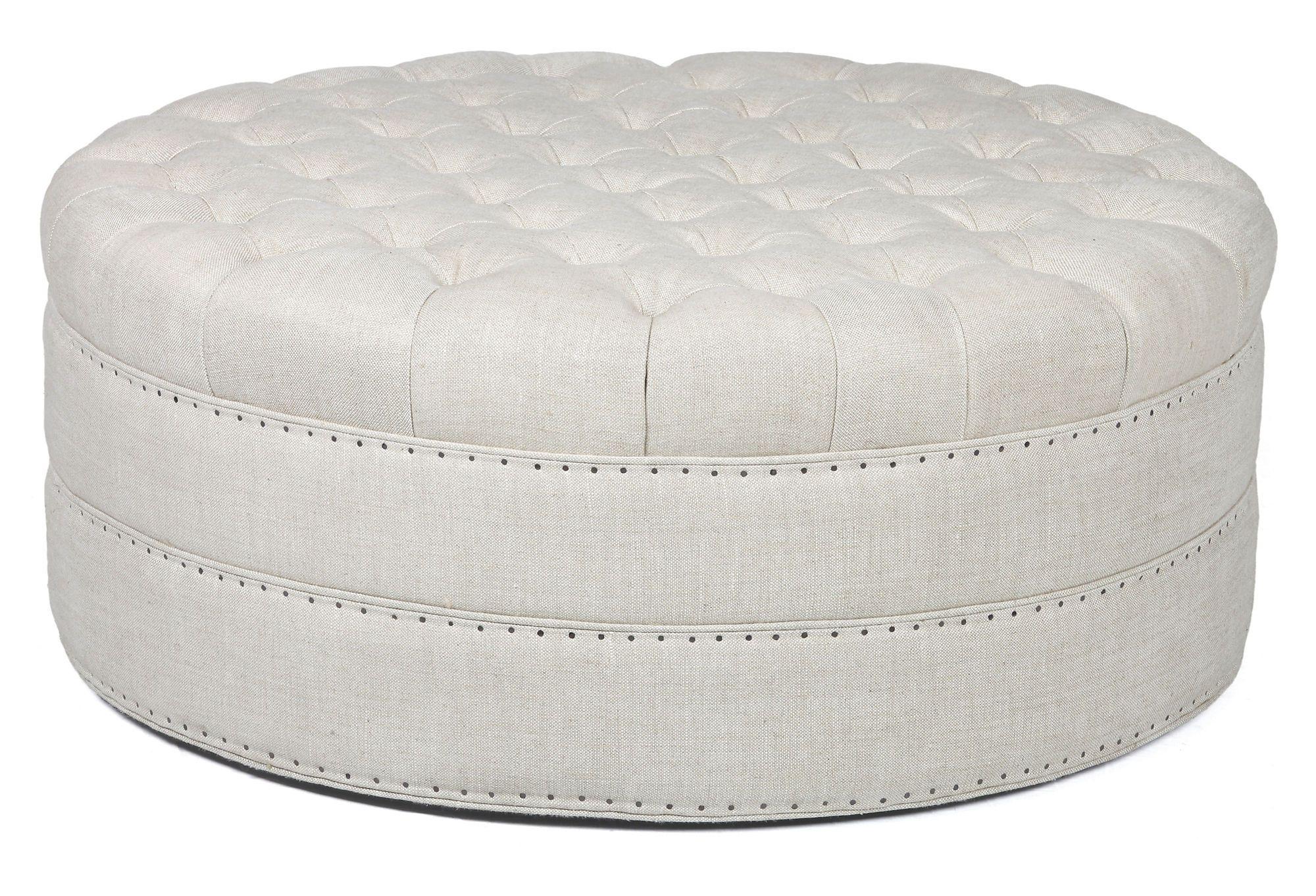 round tufted leather ottoman ideas on