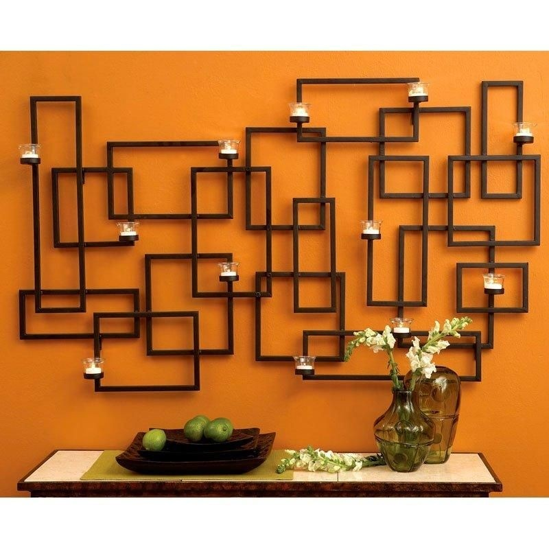 Metal Wall Art With Candles - Foter on Metal Candle Holders For Wall id=74985