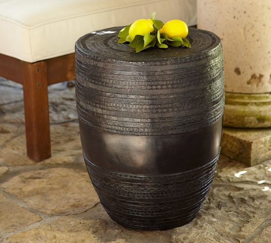 Metal Drum Accent Table Ideas On Foter