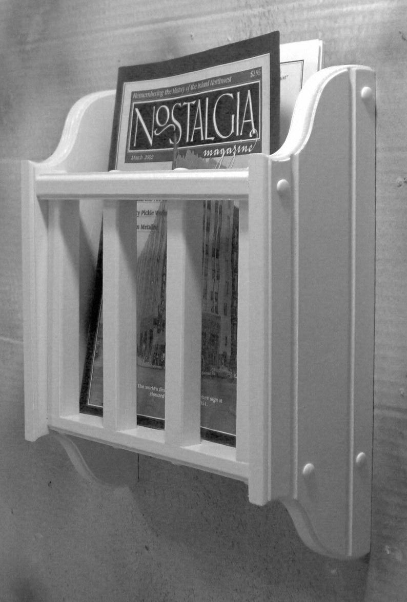 wall mounted bathroom magazine rack
