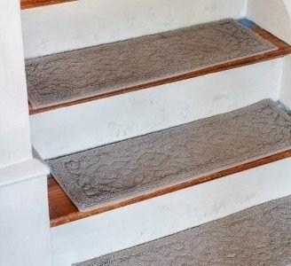 Stair Treads Carpet Non Slip Ideas On Foter | 36 Inch Carpet Stair Treads | Basement Stairs | Slip Resistant | Coffee Brown | Diamond Trellis | Bullnose Carpet